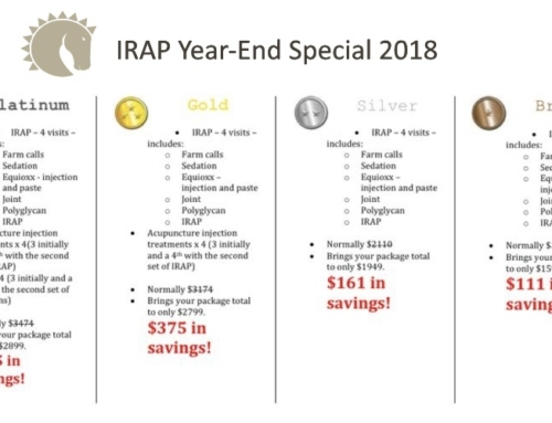 IRAP Special Year-End Pricing